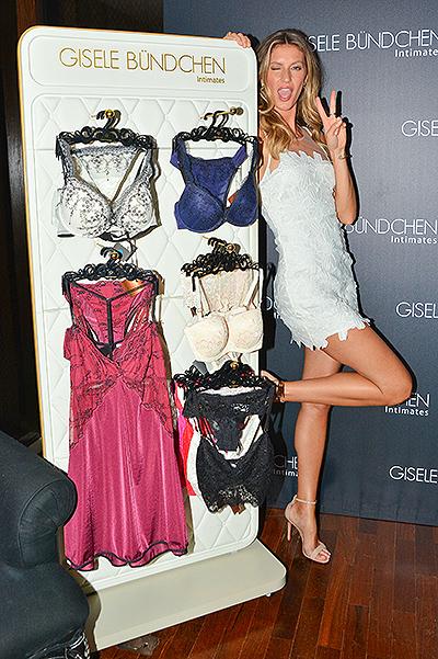 Gisele Bundchen promotes her own lingerie line
