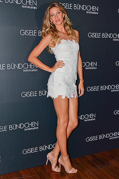 Gisele Bundchen celebrates the launch of her Lingerie Line