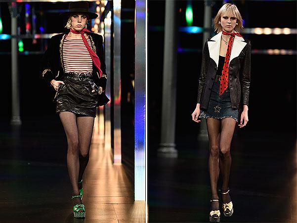 Saint Laurent : Runway - Paris Fashion Week Womenswear Spring/Summer 2015