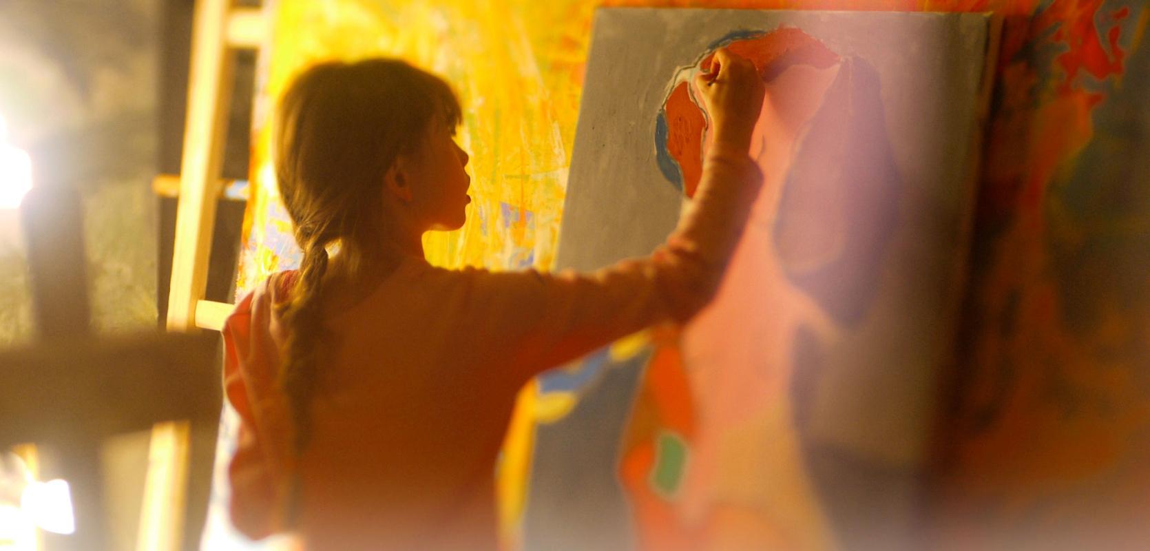 12-годишно момиче е сред най-скъпите художници на галерията Park West