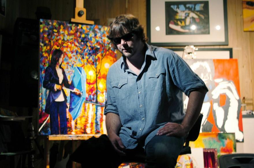 Удивителните картини на един сляп художник (видео)