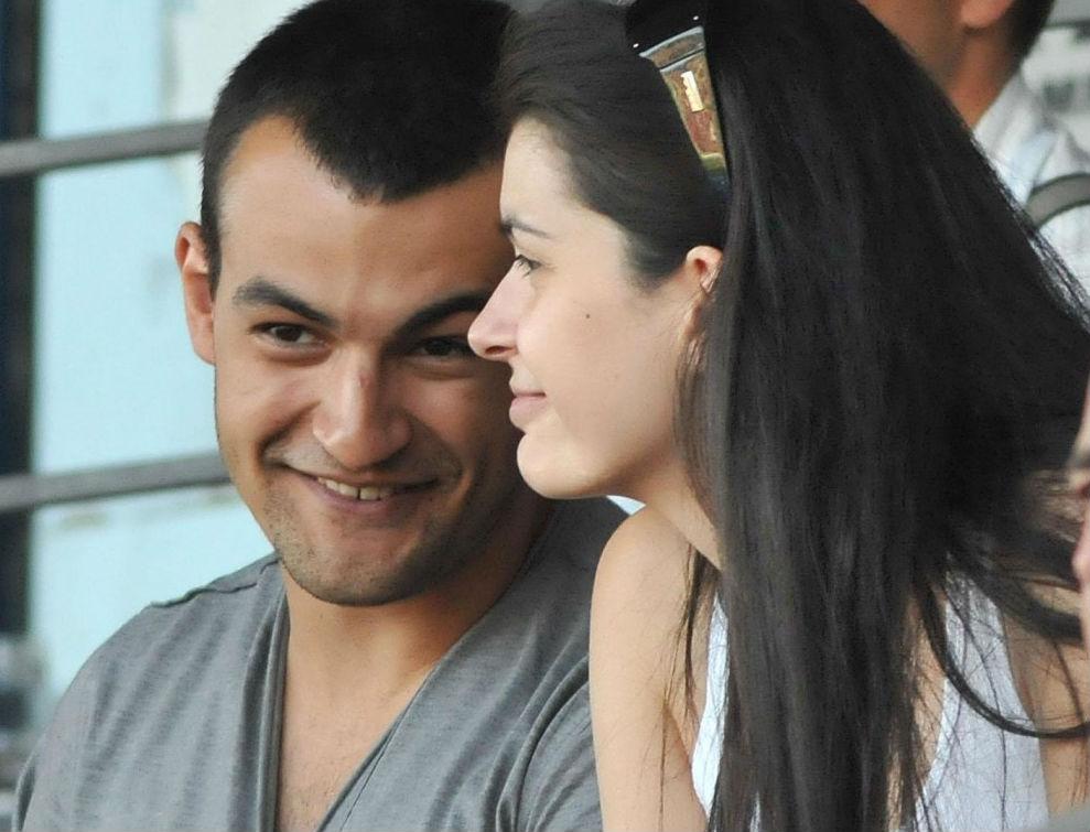 Ива със съпруга си, сина на Васил Божков - Антон.