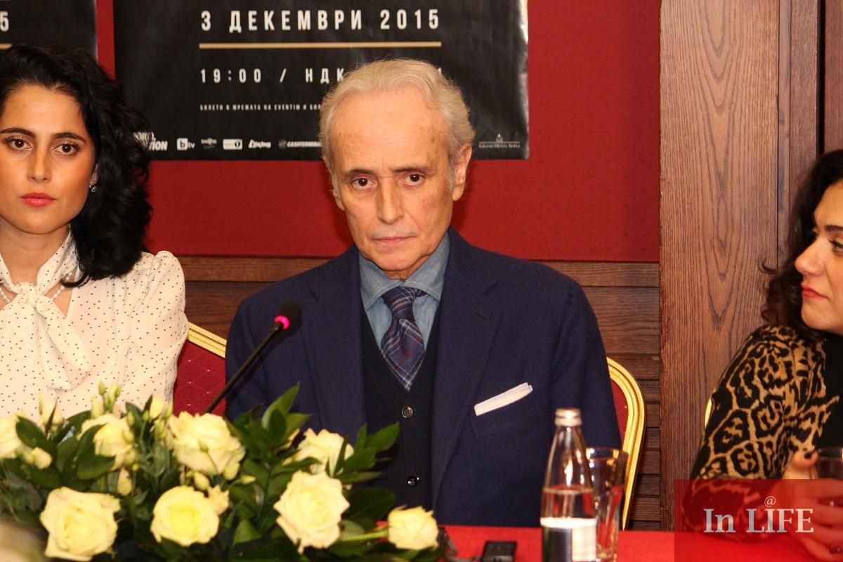Хосе Карерас при последното си гостуване в България.
