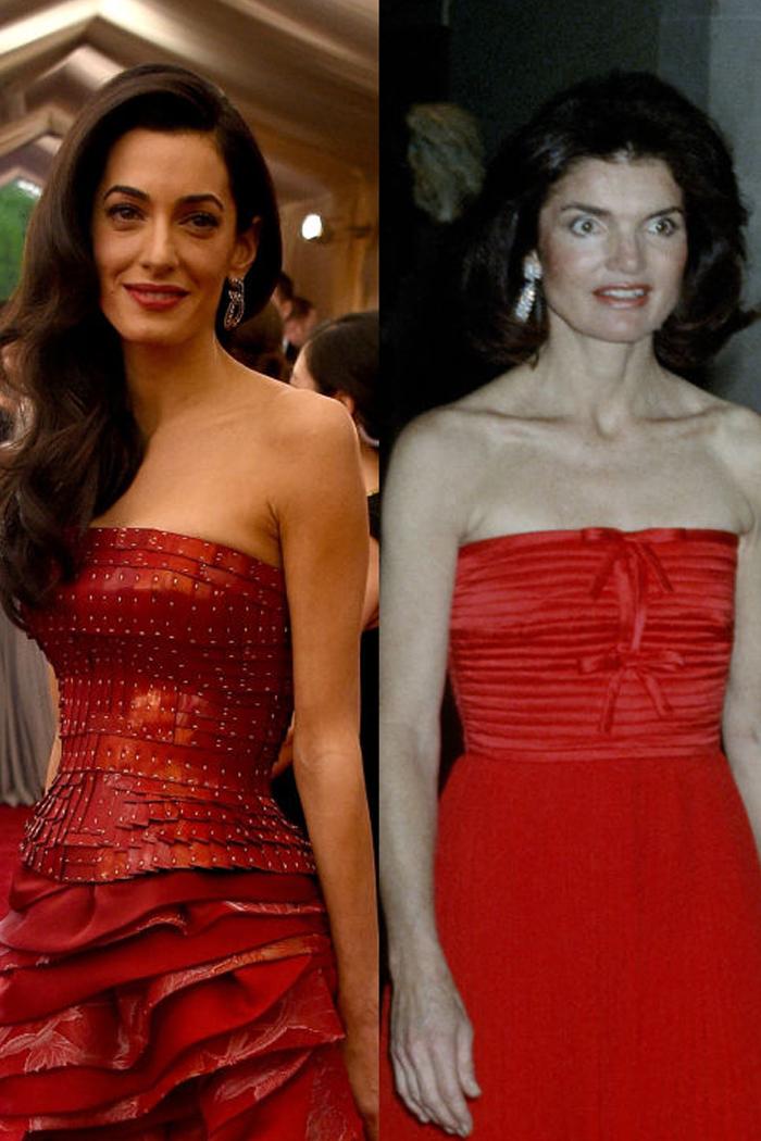 Червената официална рокля