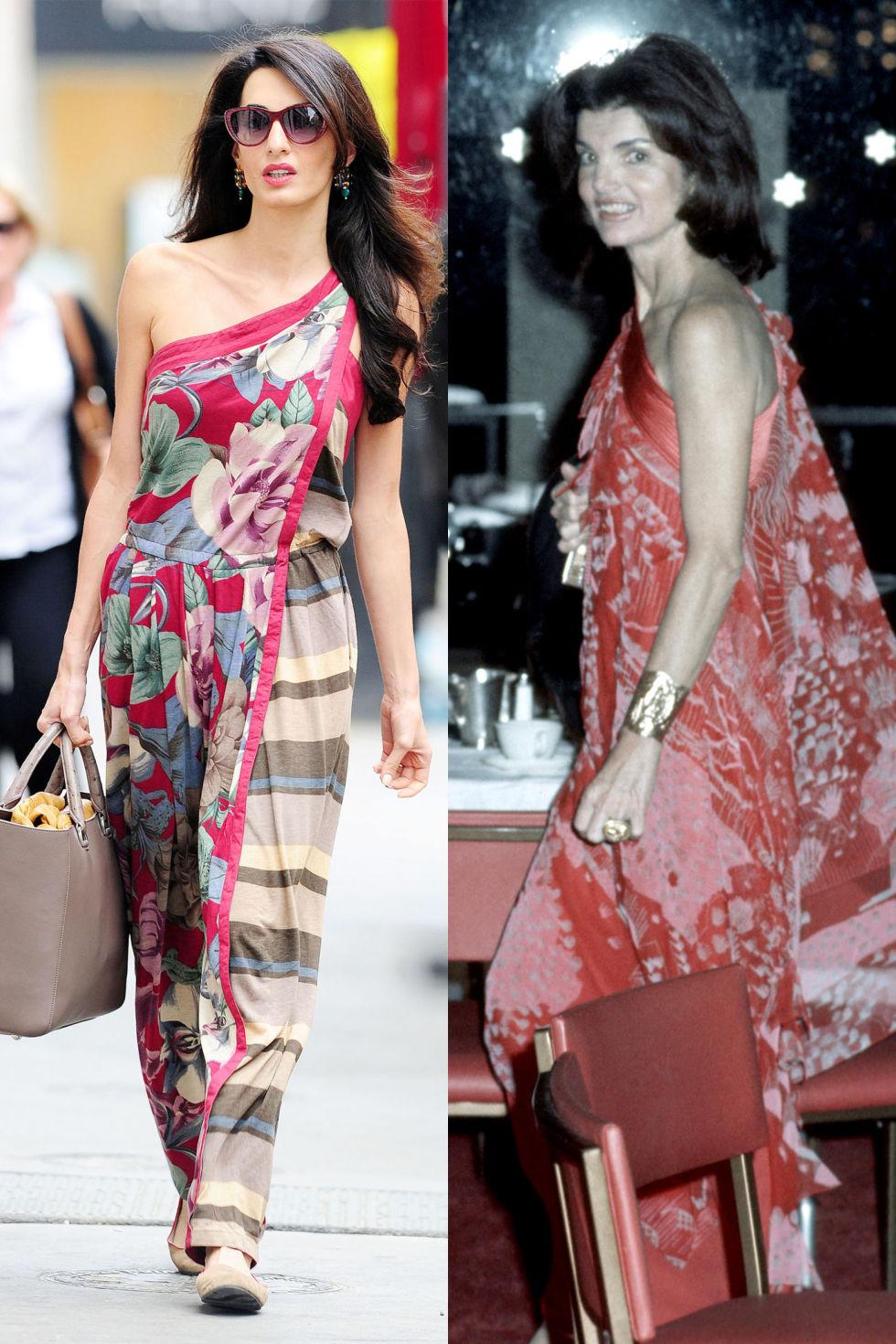 Прекрасната цветна рокля с едно рамо