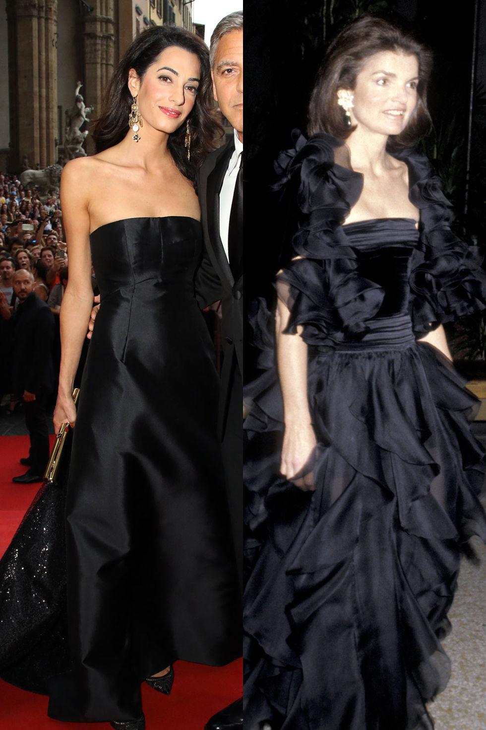 Невероятната черна рокля без презрамки