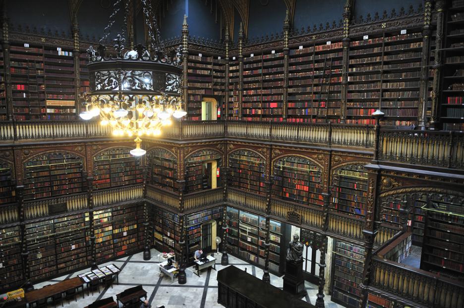 Библиотеката Real Gabinete Portugues De Leitura, Рио де Жанейро, Бразилия