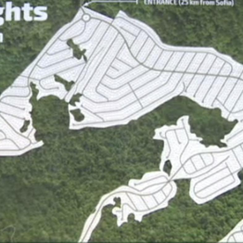 Част от плана за новия град.