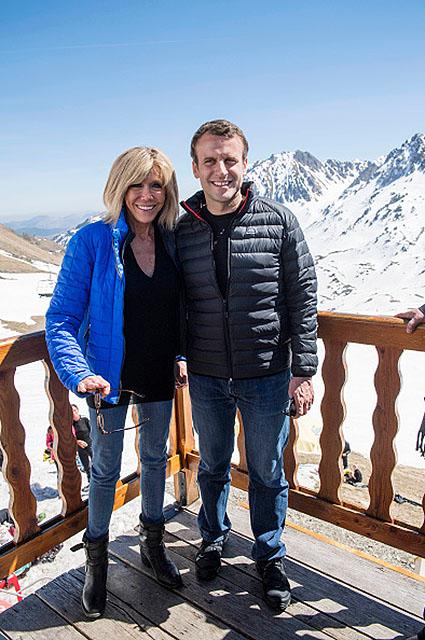French Presidential Candidate Emmanuel Macron Visits Bagneres-de-Bigorre
