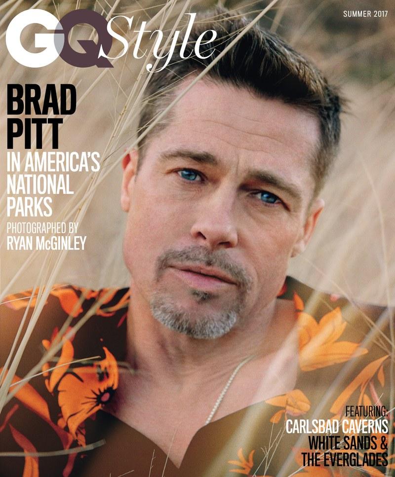 Трети вариант на корицата на списанието с Брад Пит / снимка: gq.com