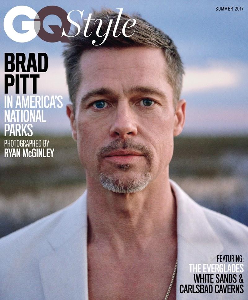 Друг вариант на корицата на списанието с Брад Пит / снимка: gq.com