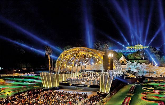 Концерт в парка на Двореца Шьонбрун