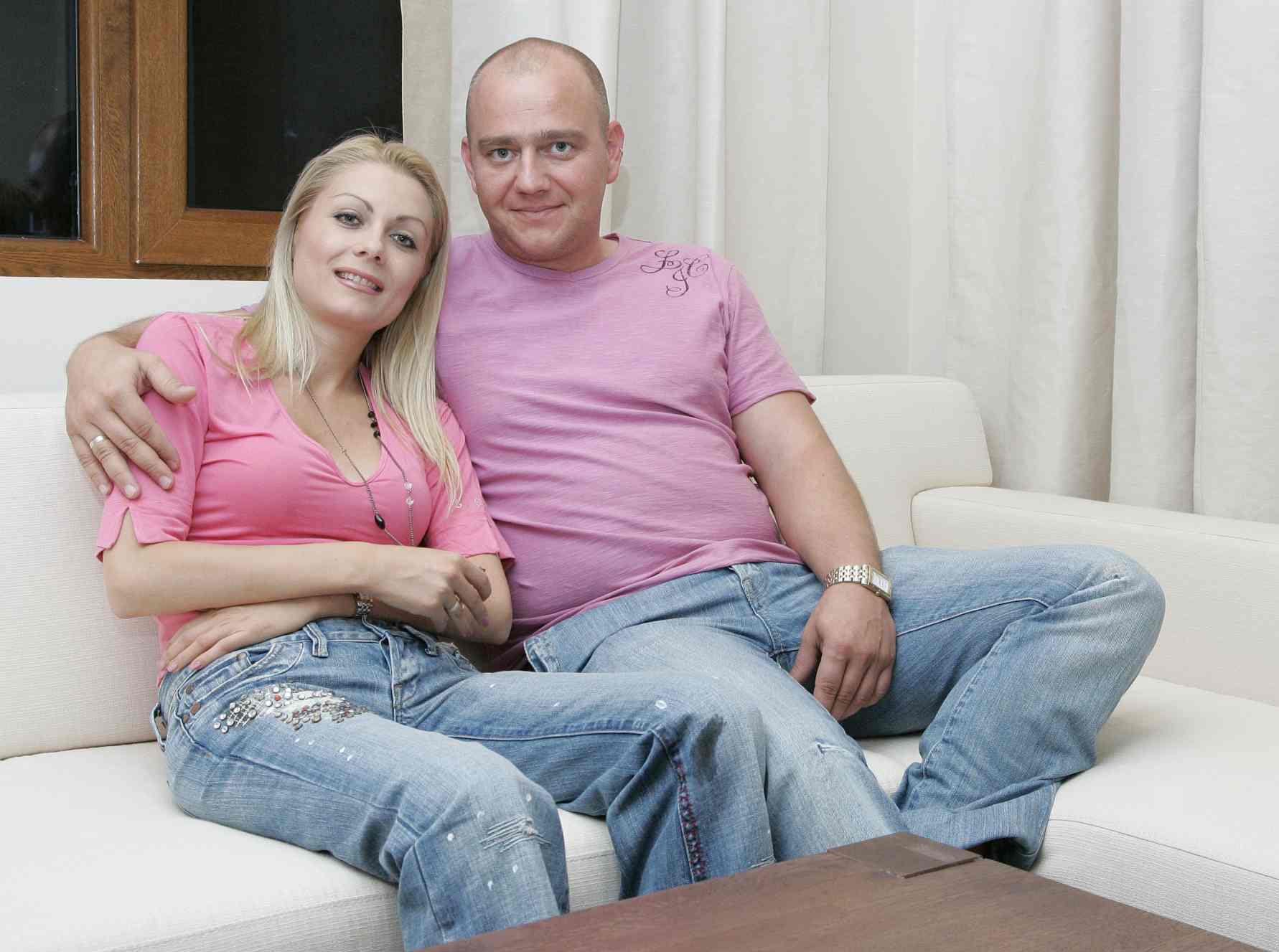 Венета Райкова с любимия си Тишо.