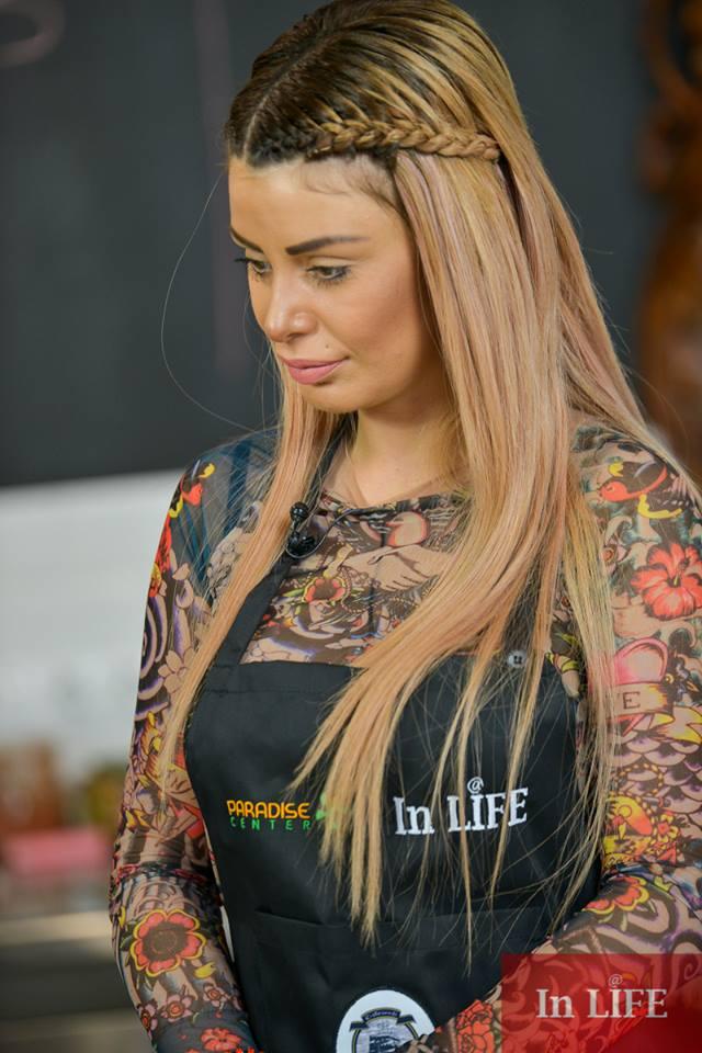Светлана Василева в епизд от кулинарното шоу на In LIFE TV Кухня в рая