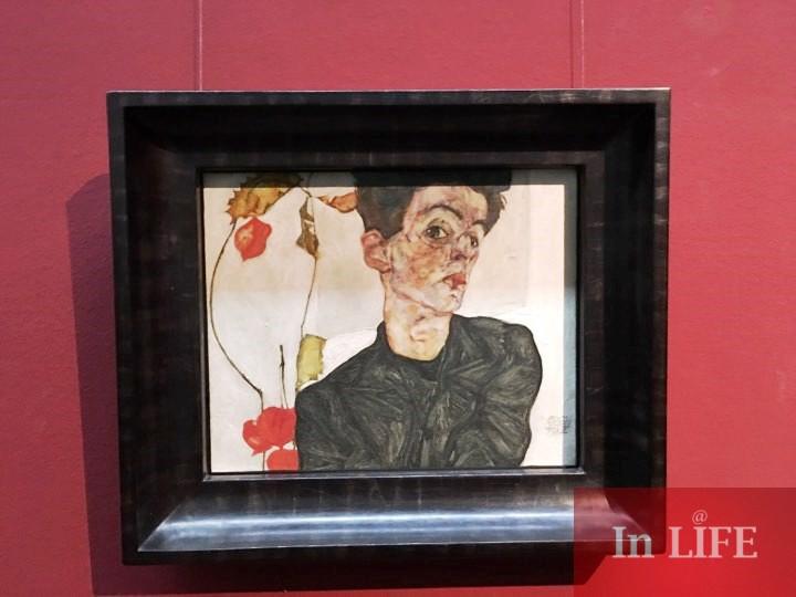 Автопортрет,Егон Шиле, Музей Леополд, Виена