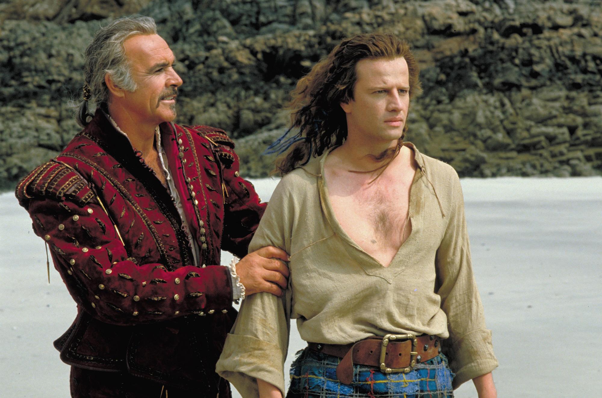 """Кристоф Ламбер и Шон Конъри в """"Шотландски боец"""""""
