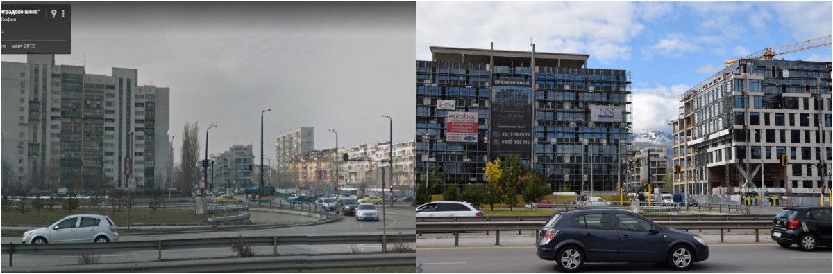 Бизнес сгради на Цариградско шосе, срещу The Mall 2012/2017 г.