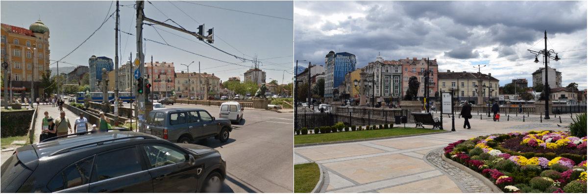 Лъвов мост - през 2012 и 2017 година.