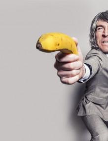 Мъже Мъж с банан
