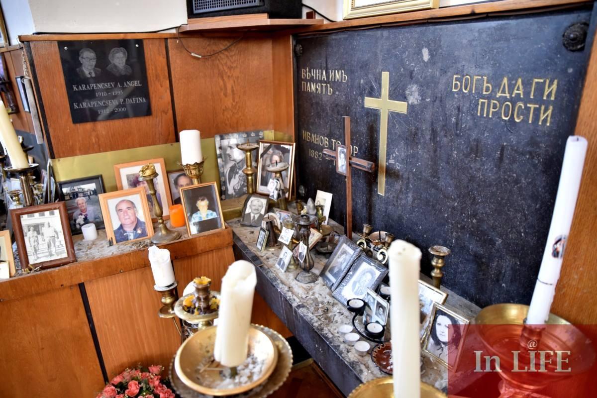 Кътът на покойниците в българския храм в Будапеща