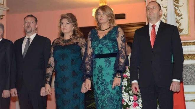 Президентската двойка Десислава и Румен Радев и Илиана Йотова на приема послучай 3 март