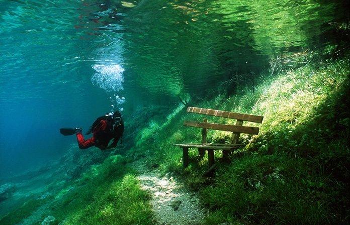 Този природен парк остава под водата само през пролетта, благодарение на интересно природно явление.