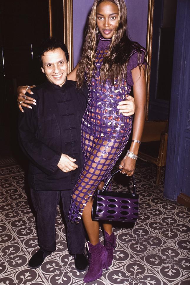 Azzedine Alaïa et Naomi Campbell à Paris