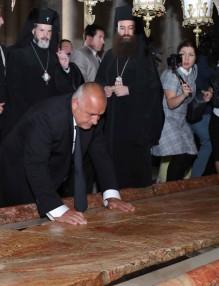 Бойко Борисов се поклони на Божи гроб на рождения си ден