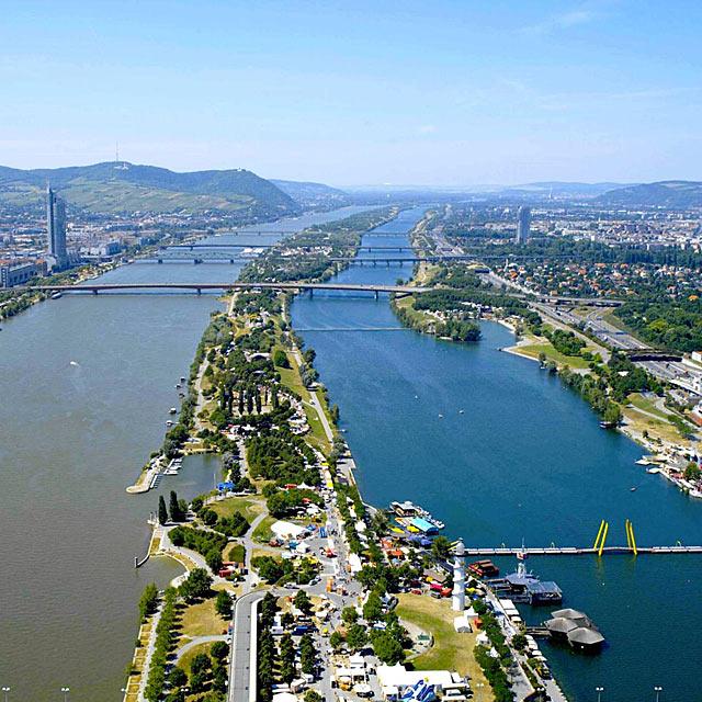 Виенският остров на река Дунав
