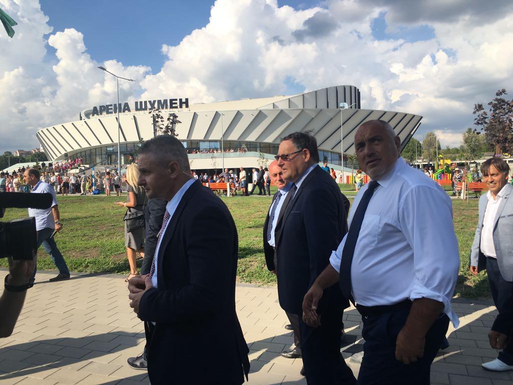 Премиерът Бойко Борисов открива Арена Шумен