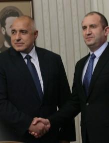 В нестихващ диалог, но все пак с взаимно уважение - в компанията на премиера Борисов.