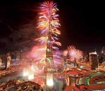 Лазерно шоу на Burj Khalifa за Нова година