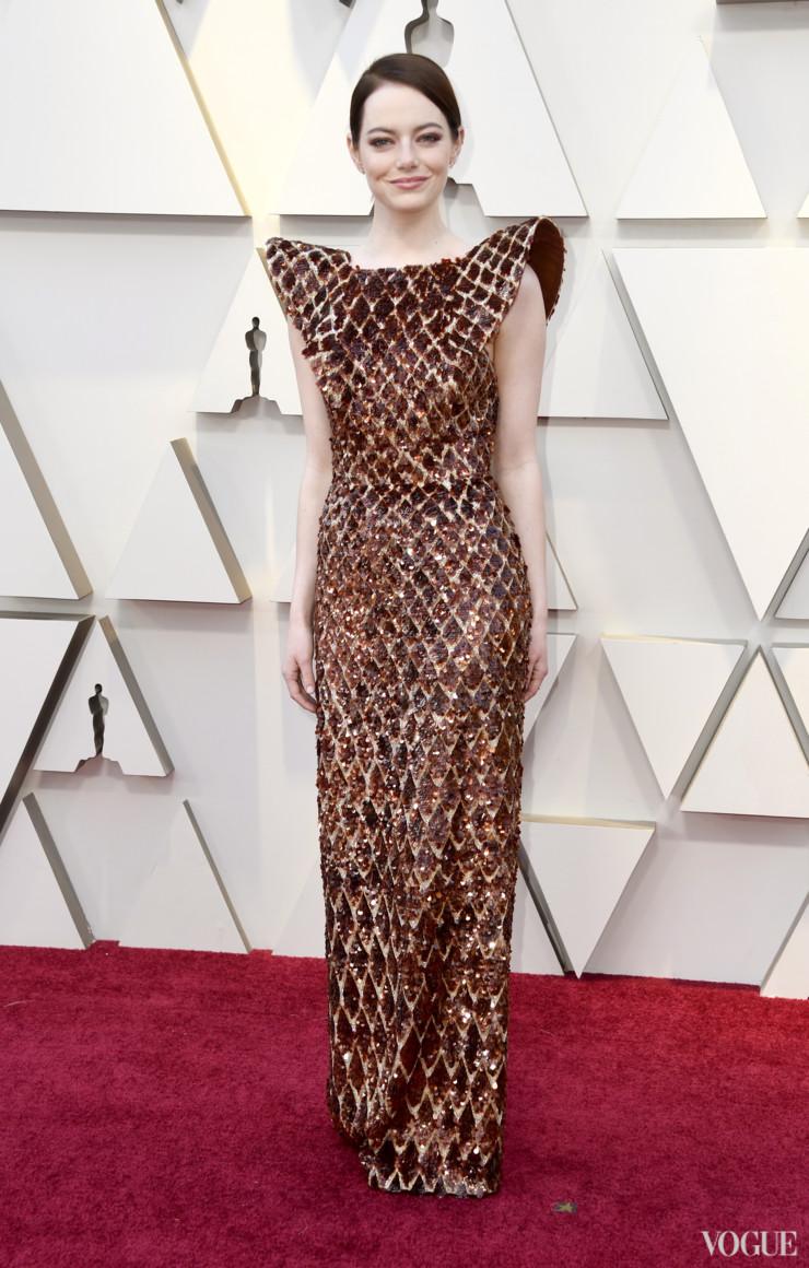 Ема Стоун в Louis Vuitton Снимка: Vogue