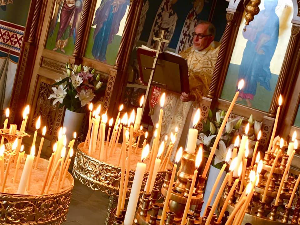 Българската църква Св.Иван Рилски във Виена по Великден