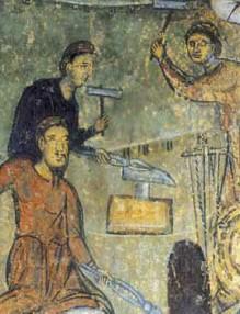 Изковаване на гвоздеите, Земенски манастир