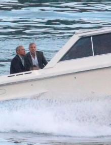 Джордж Клуни и Барак Обама
