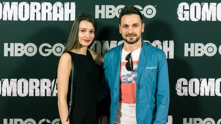 Александър Сано и Боряна Маноилова на премиерата на Гомор