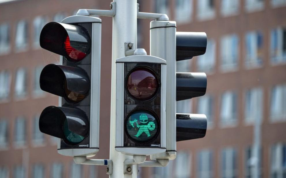 светофар с викинги в Дания