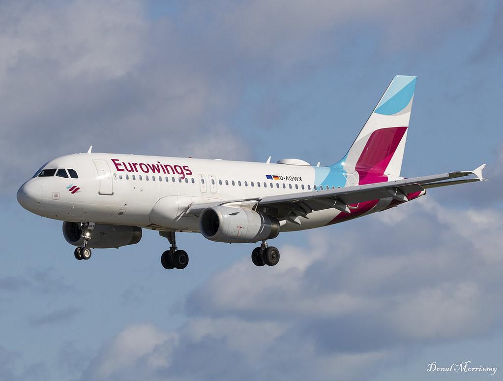 Самолет Airbus A319 на Eurowings