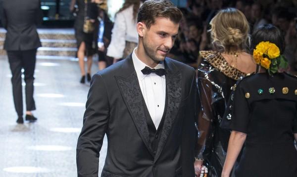Григор Димитров като модел на Dolce and Gabbana