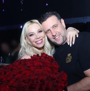 Емилия със съпруга си Джардж Башур